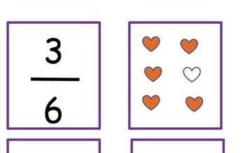 Valentine Fraction Heart Match