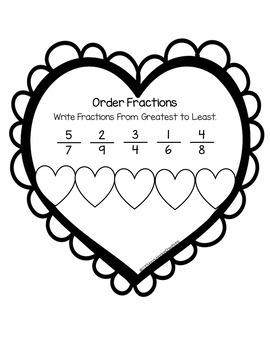 Valentine's Day Craft Fractions
