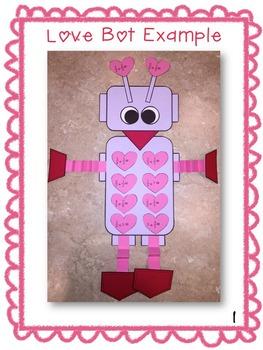 Valentine Fraction Math Craftivity--UPPER Grades