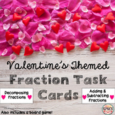 Valentine Fraction Task Cards and Board Game