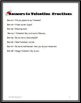 Valentine Fraction Words: Identifying Fractional Parts