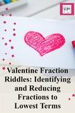 Valentine Fraction Riddles: Identifying Fractional Parts