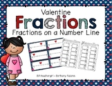 Valentine Fractions on a Number Line