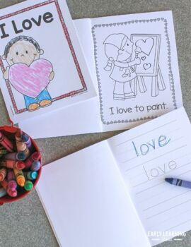 Valentine's Day Emergent Reader Freebie: I love