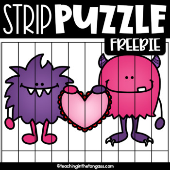 Valentine's Day Activities (Free Editable Strip Puzzle)