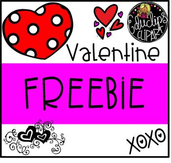 Valentine Freebie Clip Art Bundle {Educlips Clipart}