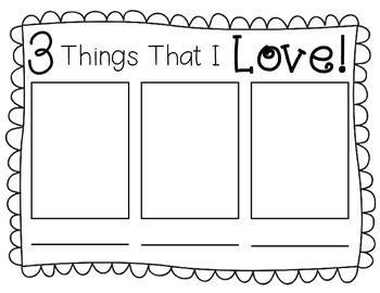 Valentine Freebie: Things that I Love