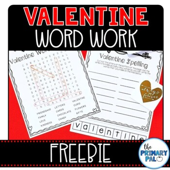 Valentine Freebie: Word Search and Spelling