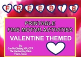Valentine Freebie for Fine Motor Labs for Center Time or Therapy