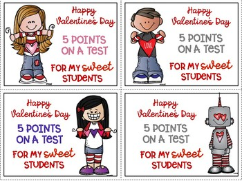 Valentine Freebie for your Students Color and Black & White for easy printing