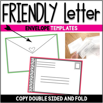 Valentine Friendly Letter Fun ~ Featuring the 5 Parts of a Friendly Letter