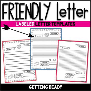 Friendly Letter Templates Valentine Version Gratitude Letters by ...