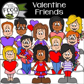 Valentine Friends Clip Art