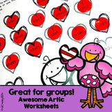 Valentine Friends Awesome Articulation Worksheets 720 words!