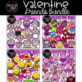 Valentine Friends Clipart Bundle {Creative Clips Clipart}