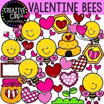 Valentine Friends Clipart Bundle {Creative Clips Clipart}