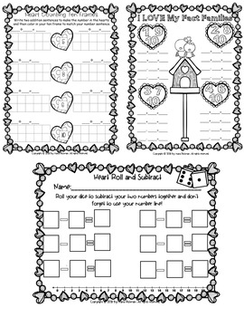 Valentine Friends of 10: Math Games and Activities