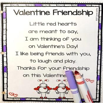 Valentine Friendship - Poem for Kids by Little Learning Corner | TpT