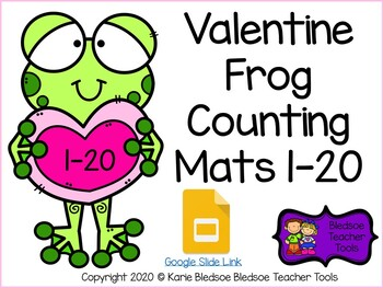 Valentine Frog Counting Mats 1-20