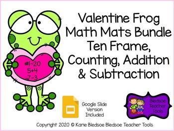 Valentine Frog Math Mats Bundle
