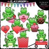 Valentine Frogs Clip Art - Valentine's Day Clip Art