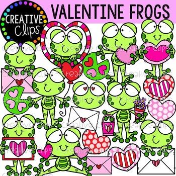 Valentine Frogs {Valentine Clipart}