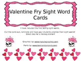Valentine Fry Sight Word Cards