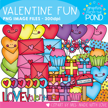 Valentine Fun - Clipart and Digital Papers for Teaching Resources