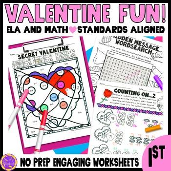 Valentine's Day Fun! (Math and ELA)