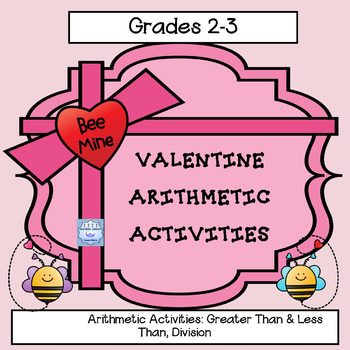 Valentine Division Practice & Greater Than Less Than Reinforcement ( 2-3 & Sped)