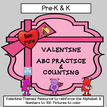Valentine: Practicing our Letters and Numbers (Kindergarten)