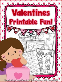 graphic about Valentine Crossword Puzzle Printable named Valentine Exciting Printables! *Absolutely free