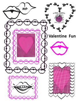 Valentine Fun {Valentine Clipart for your products}