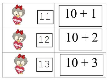 Valentine Fun With Penguins and Polar Bears 8 Games For Teaching Teen Numbers