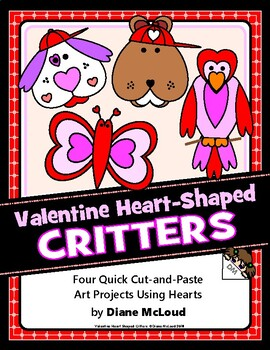 Valentine Fun with Heart-Shaped Critters - Four Q&E Art Projects!!
