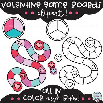 Valentine Game Board Clipart  {board game clipart}
