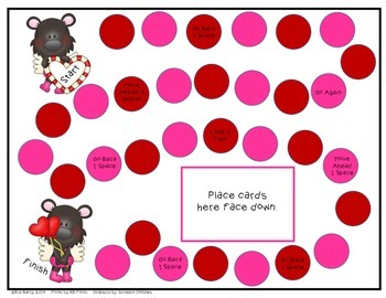 Game Boards - Addition and Subtraction Practice - Valentie's Day Edition