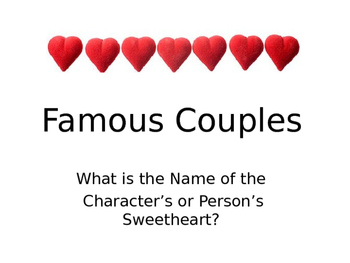 Valentine Game: Famous Couples