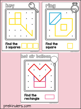 Valentine Geoboards: Shape Activity for Pre-K Math