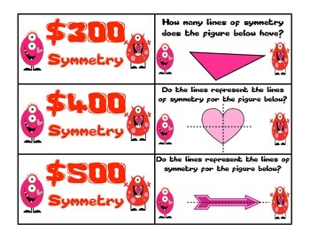 Valentine Geometry Game Show (Common Core Aligned - 4th Grade)
