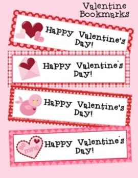 Valentine Gift Bundle- Bookmarks, Gift Tags and Treat Bag Toppers