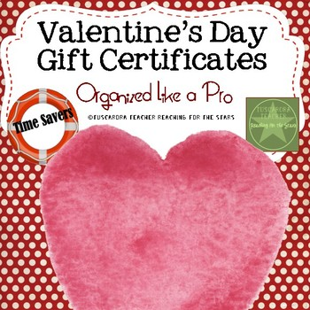 Valentine Gift Certificates for Students
