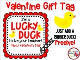 Valentine Gift Tag: Lucky Duck