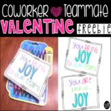 Valentine Gift Tag for Coworkers or Teammates