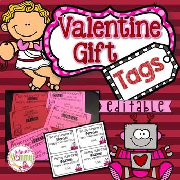 Valentine Gift Tags {EDITABLE}