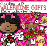 Valentine Gifts Count to 10 - Seven Ways to Show Numbers