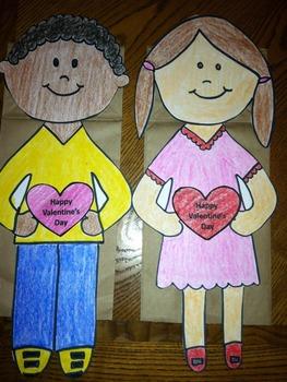 Valentine Girl and Boy Puppet