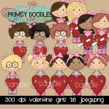 Valentine Girls '16 Clipart
