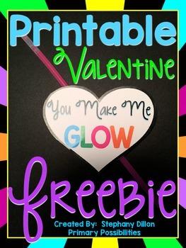 Valentine Glow Stick Freebie!