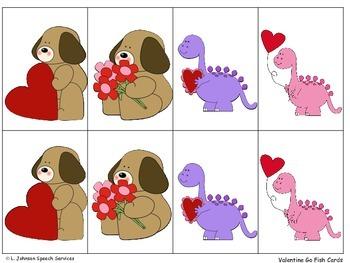 Valentine Go Fish for Expressive Language Development